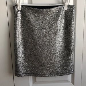 Express metallic mini skirt
